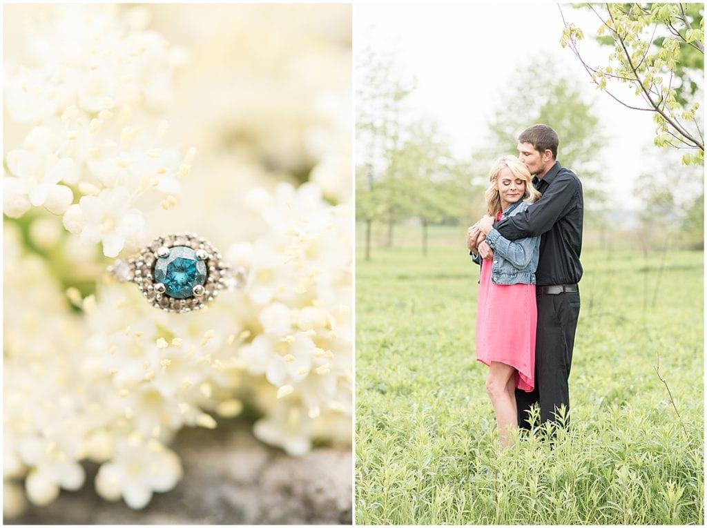 Celery Bog Spring Engagement Photos in West Lafayette, Indiana