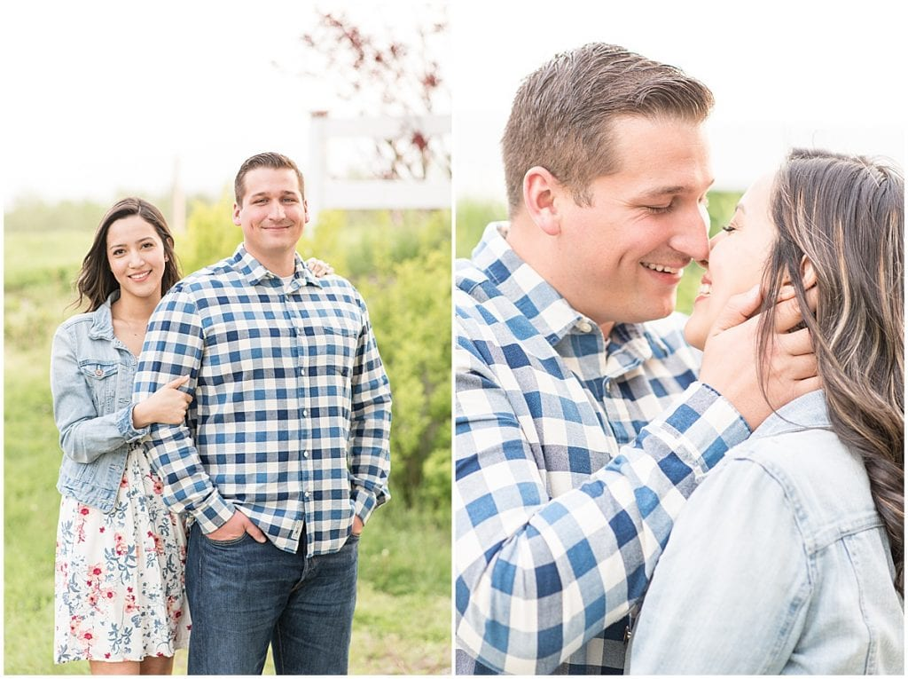 Jesse Wallace and Miryam Herrera's spring engagement photos at Wea Creek Orchard by Victoria Rayburn Photography