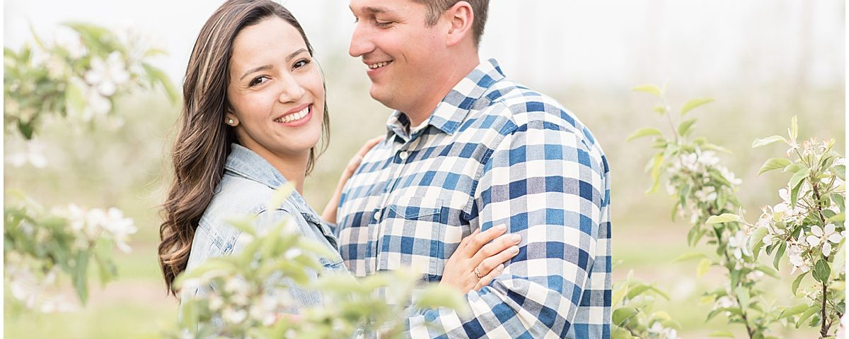 Spring Engagement Photos at Wea Creek Orchard in Lafayette, Indiana by Victoria Rayburn Photography