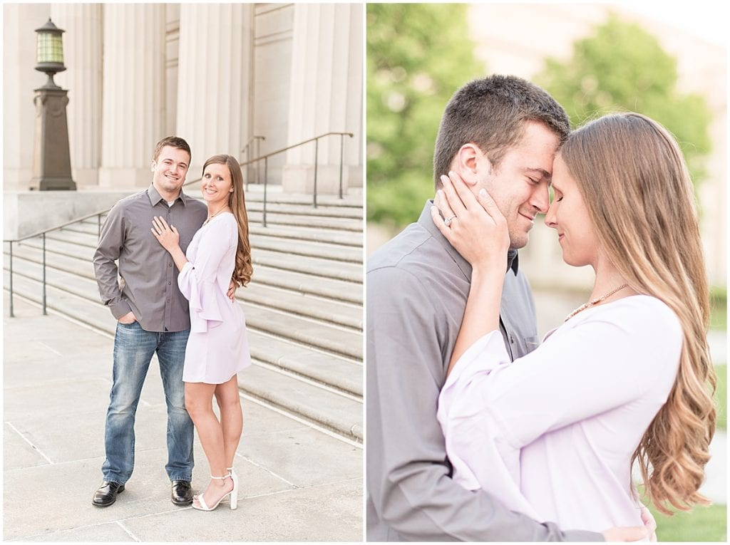 Spring Engagement Photos in Downtown Indianapolis by Victoria Rayburn Photography