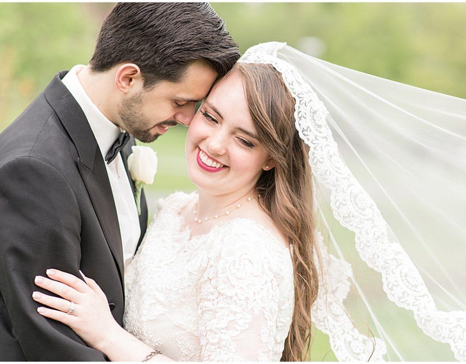 Nicholas Ballester and Madeline Pingel celebrated their wedding at Grafton Peek Ballroom in Greenwood, Indiana.