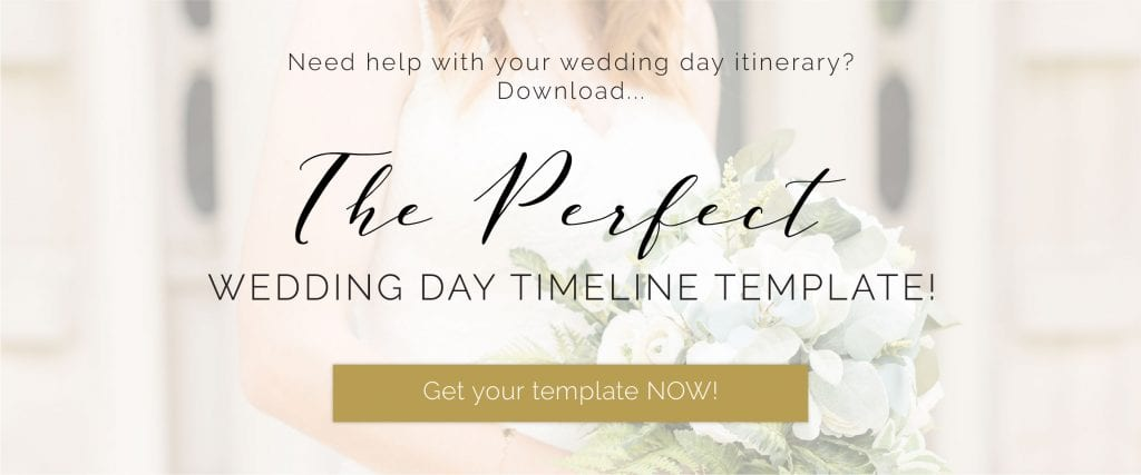 Button to Perfect Wedding Day Timeline Template