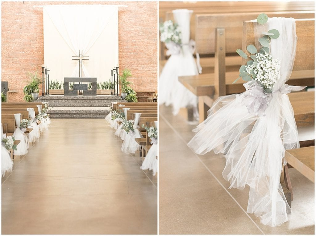 Wedding Ceremony at St. Thomas Aquinas Church in West Lafayette, Indiana