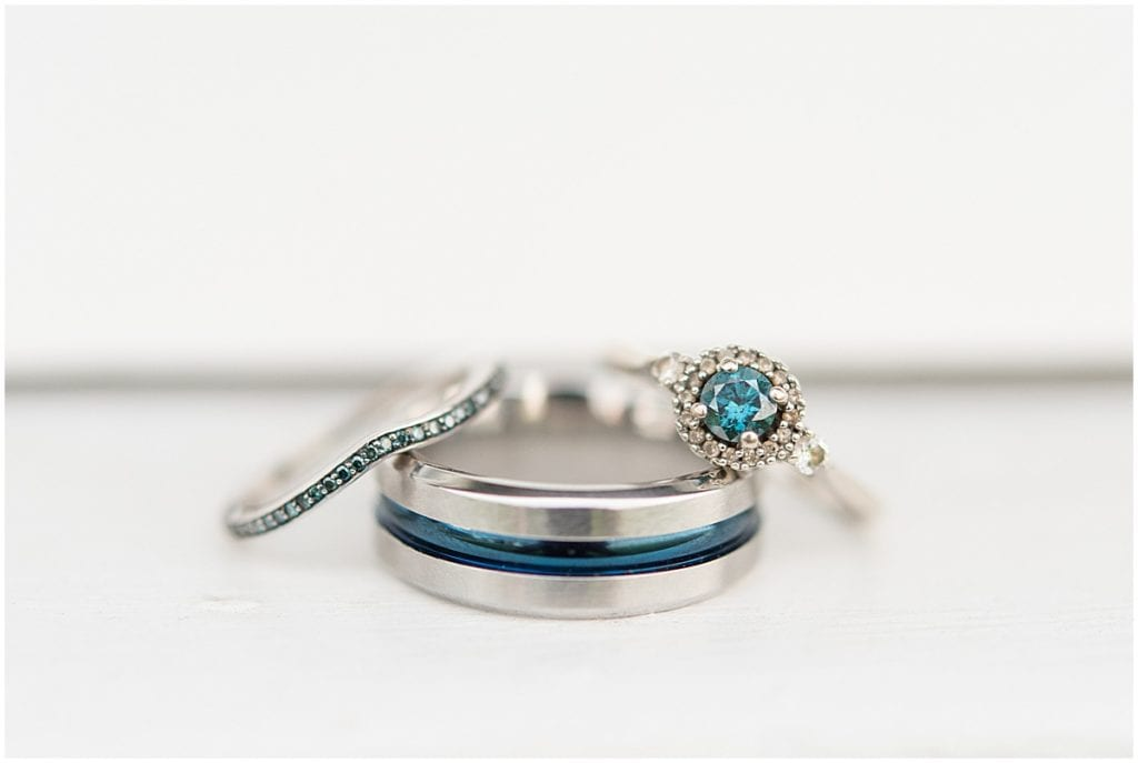 Wedding rings at Exploration Acres