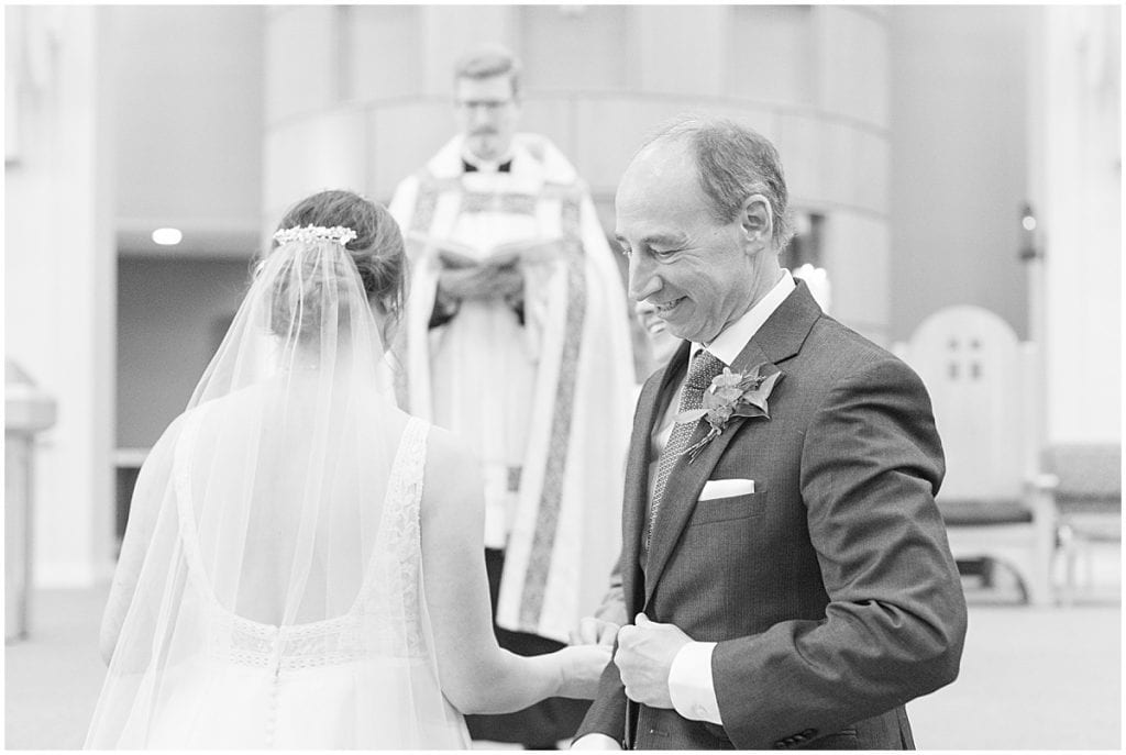 Wedding at Saint Monica's Catholic Church in Indianapolis
