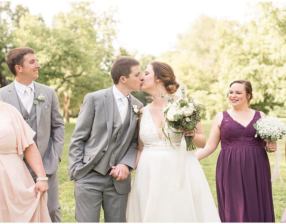 Wedding photos at Holliday Park in Indianapolis