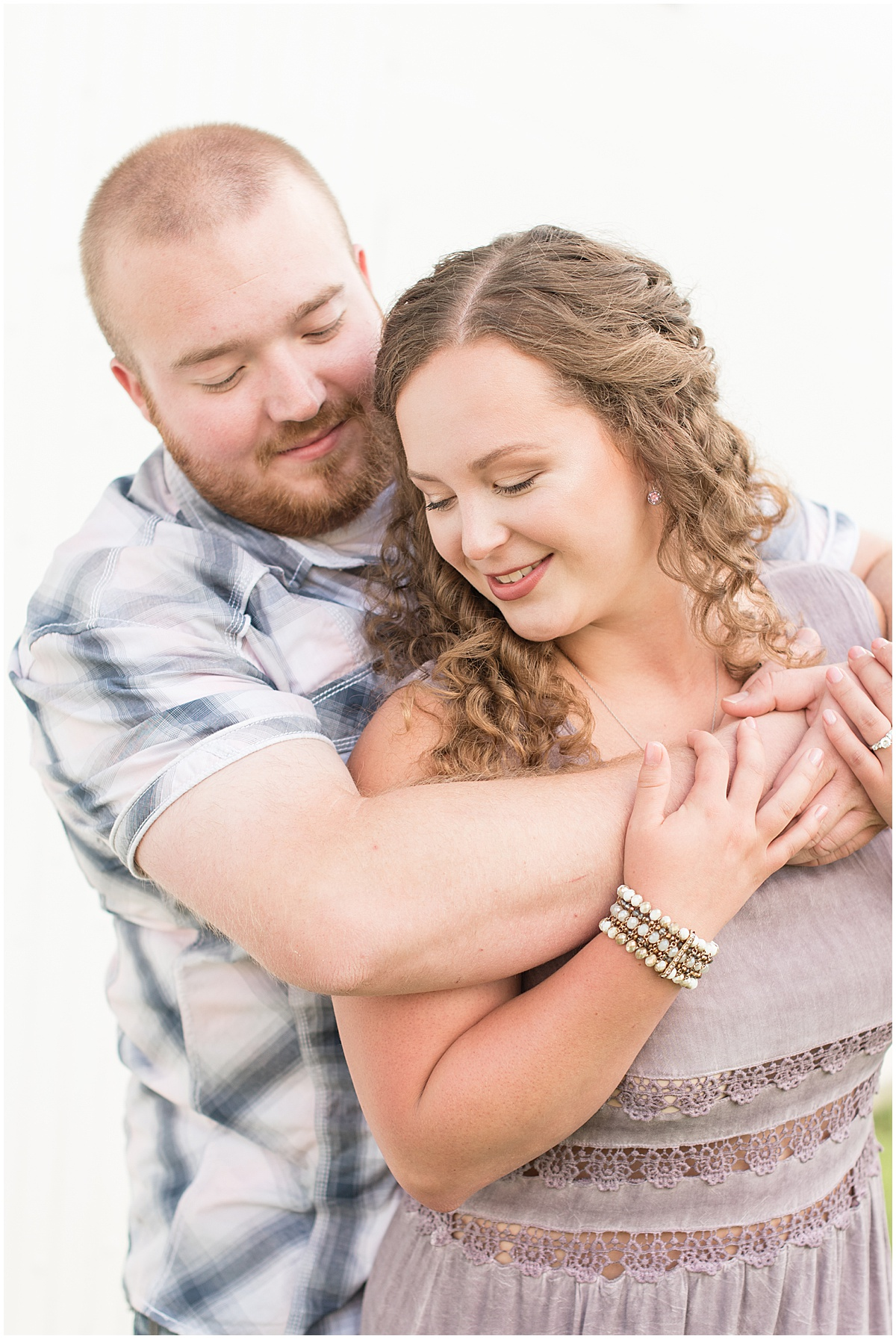 Summer Engagement Photos at Wea Creek Orchard in Lafayette, Indiana