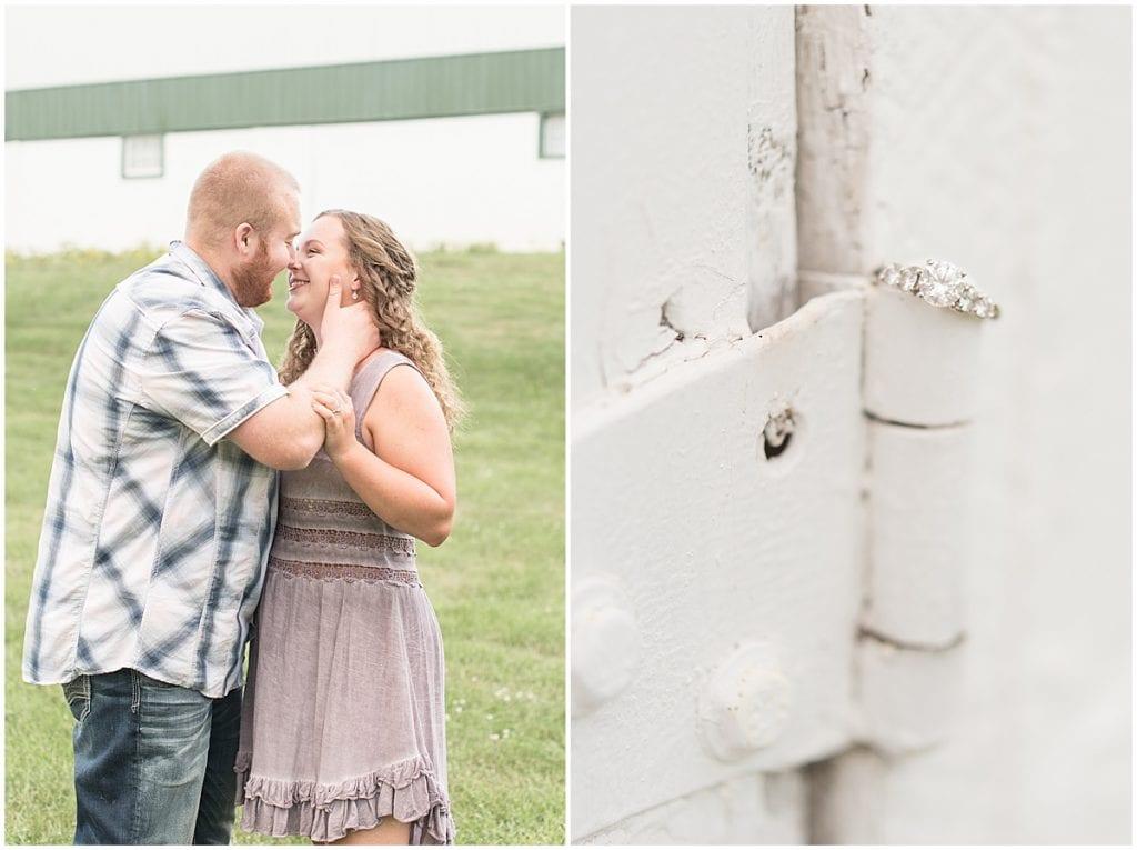 Summer Engagement Photos at Wea Creek Orchard