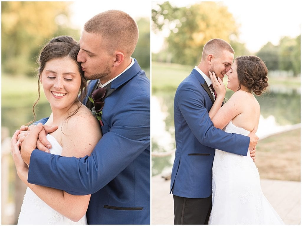 Summer wedding at Wabash & Erie Canal Park in Delphi, Indiana