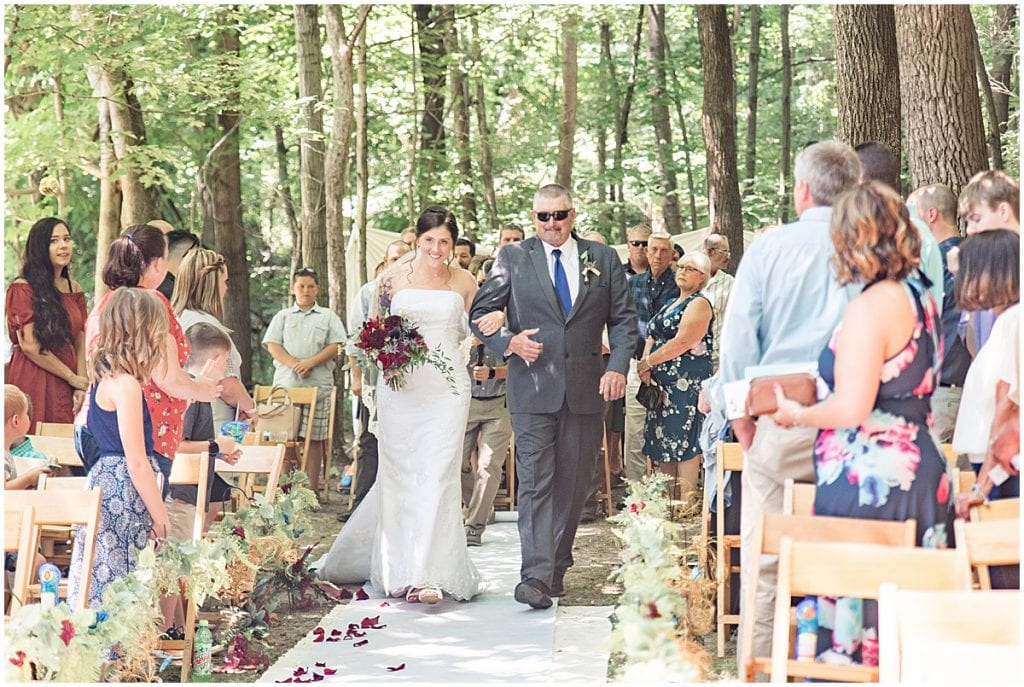 Enchanted forest wedding in Lafayette, Indiana