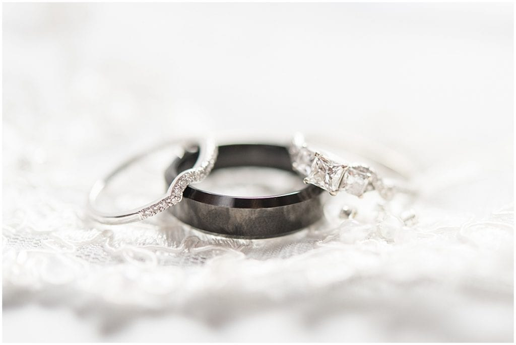Wedding ring photo by Victoria Rayburn Photography—a wedding photographer in Lafayette, Indiana