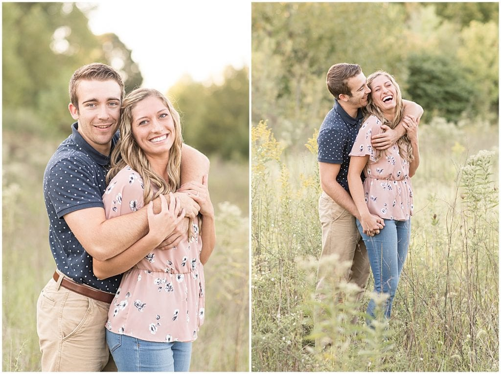 Engagement Session at Fairfield Lakes Park in Lafayette, Indiana
