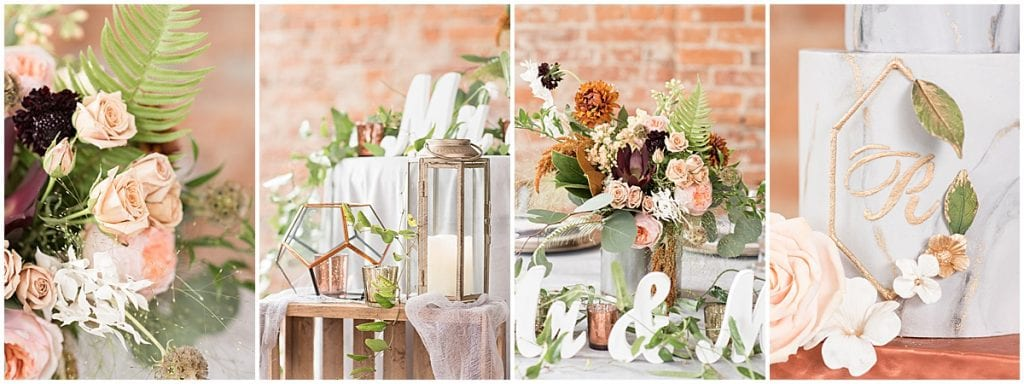 Light and moody industrial wedding at The RatPak Venue in downtown Lafayette, Indiana