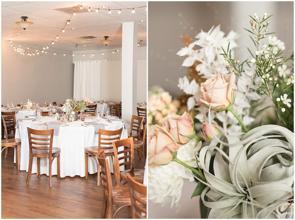 Light-and-moody, industrial wedding at The RatPak Venue in downtown Lafayette, Indiana