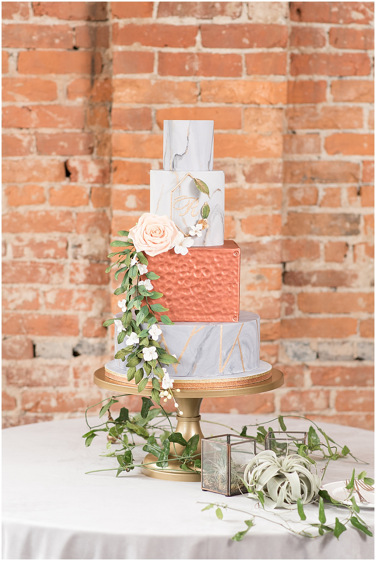 Cake made by Something Blue Bakery in Lafayette, Indiana