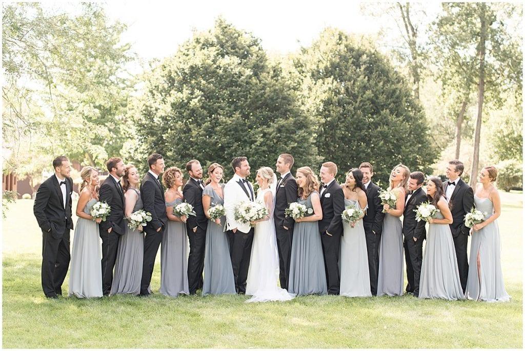 Large bridal party photos