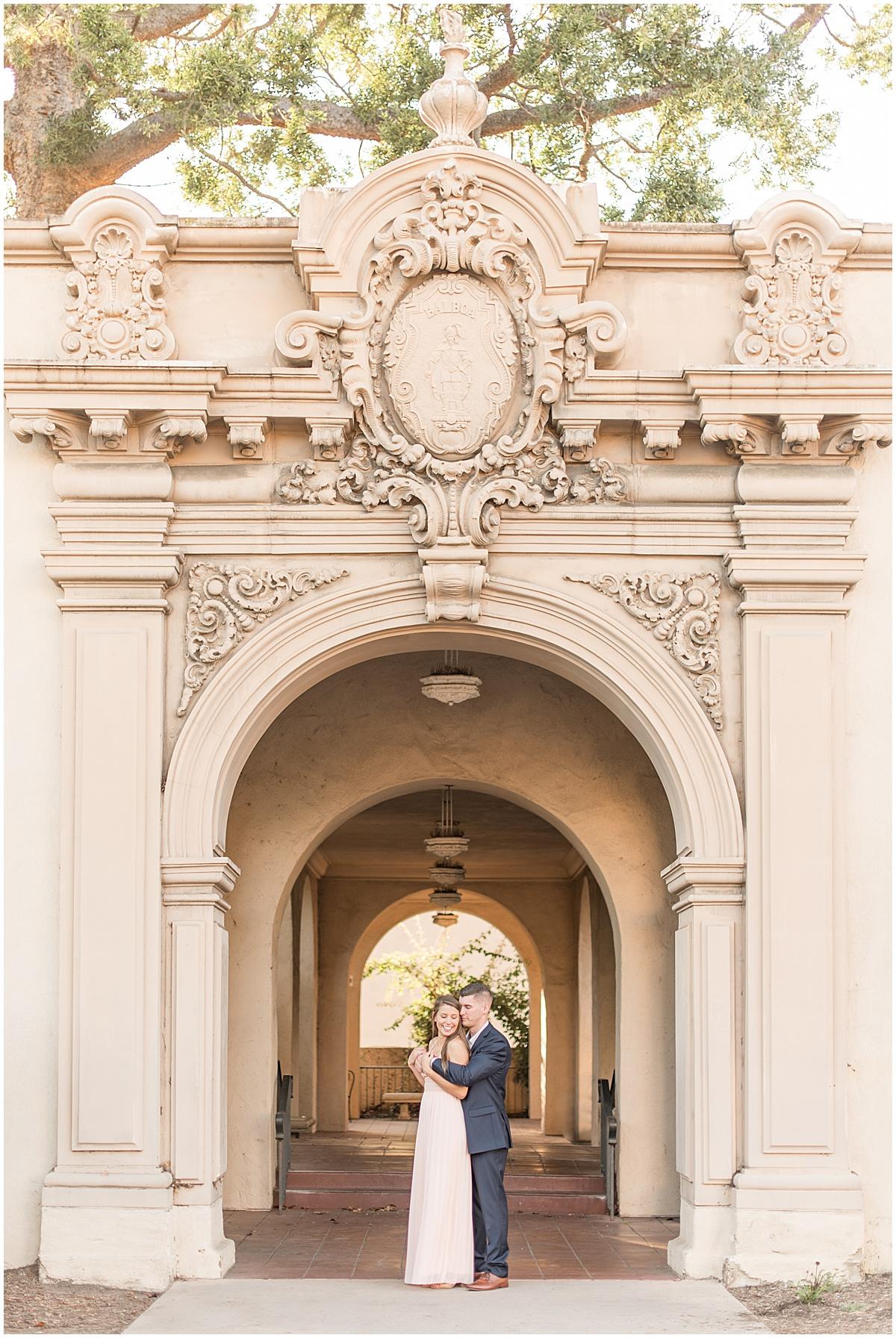 Balboa Park engagement photos in San Diego, California