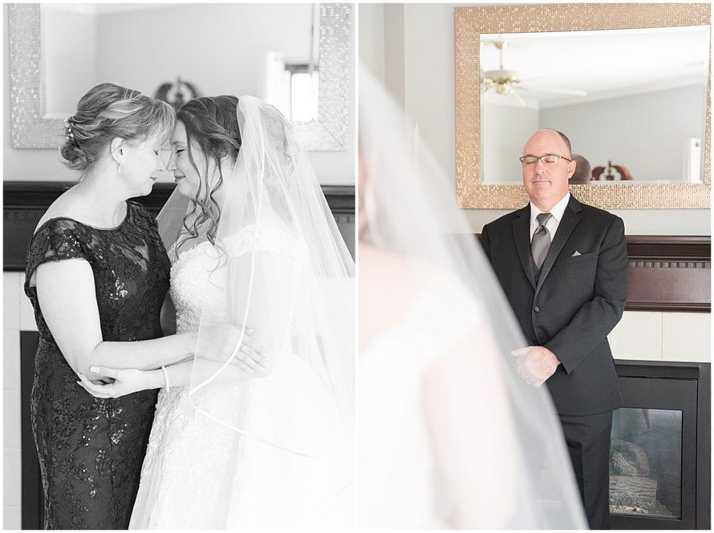 Bride getting ready at Aberdeen Inn in Valparaiso, Indiana