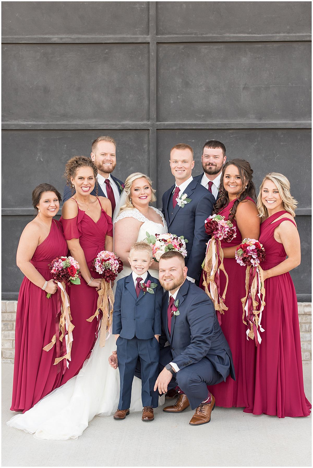 Bridal party at wedding at Bel Air Events in Kokomo, Indiana