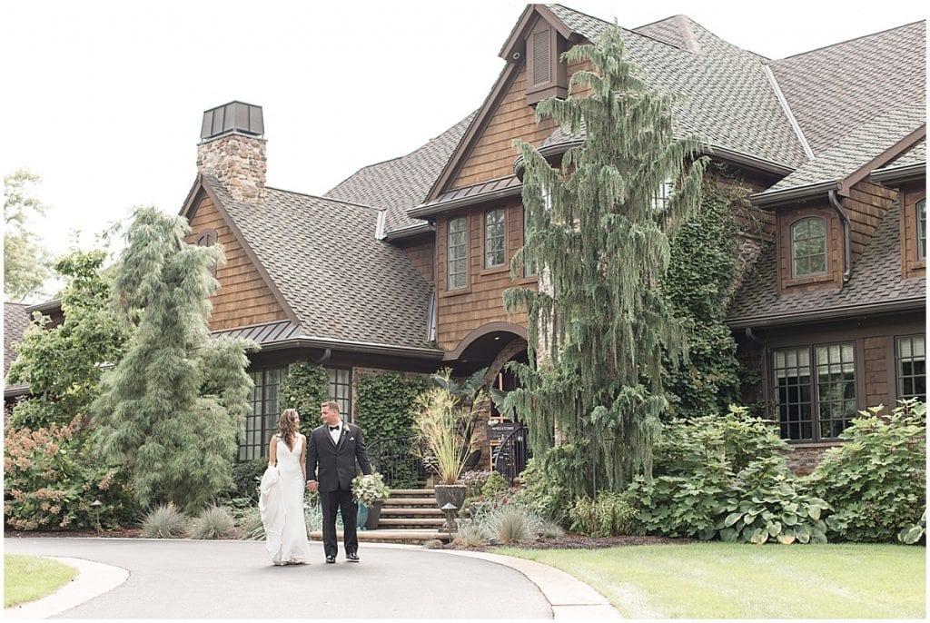 Elegant, backyard wedding in Demotte, Indiana