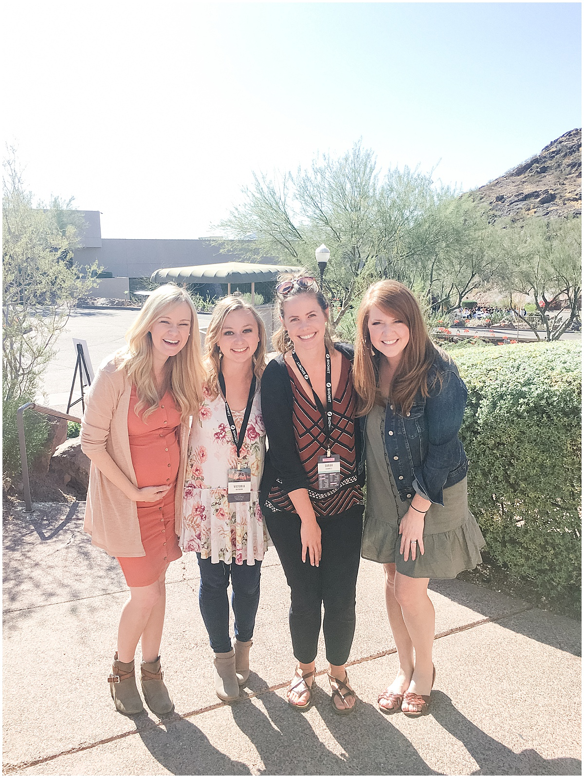 Amy Demos, Victoria Rayburn, Sarah Cadwell, and Katelyn James at Showit United 2019