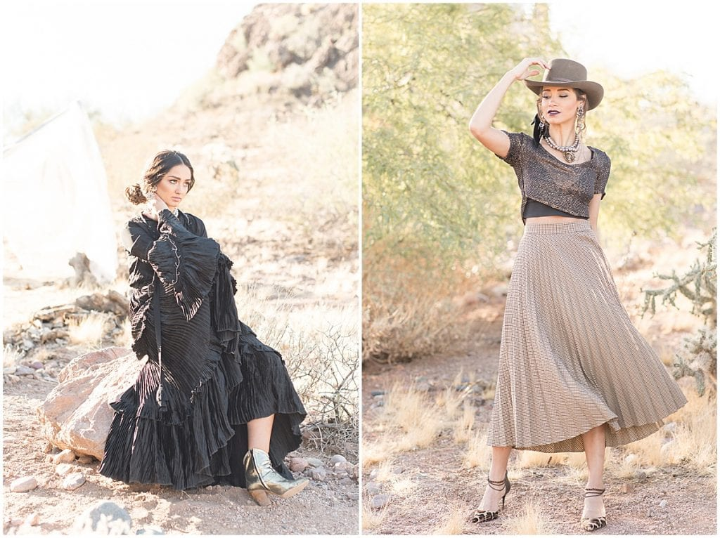Desert styled shoot at Showit United organized by Christianne Taylor