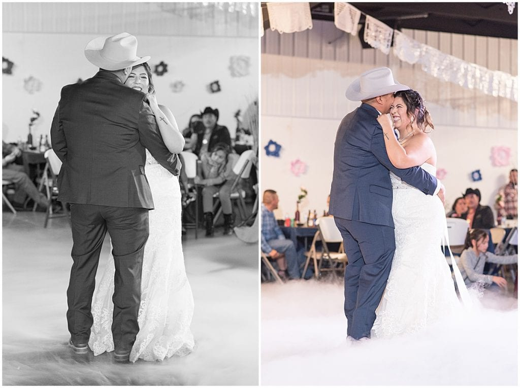Wedding reception at Clinton County Fairgrounds in Frankfort, Indiana