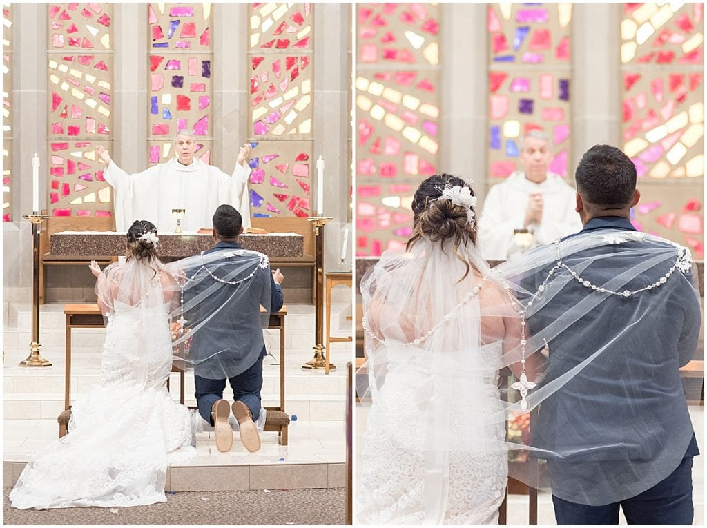 Wedding at St. Mary's Catholic Church in Frankfort, Indiana