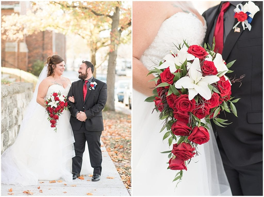 Wedding in downtown Lafayette, Indiana