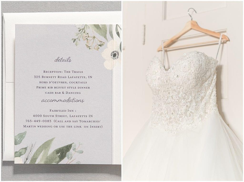 Wedding details at Trinity United Methodist Church in Lafayette, Indiana