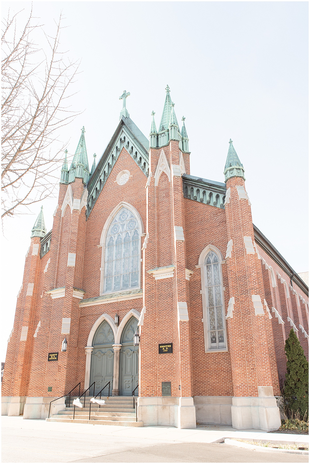 Wedding at Trinity United Methodist Church in Lafayette, Indiana