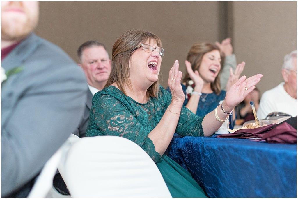 Wedding reception at Jasper County Fairgrounds in Rensselaer, Indiana