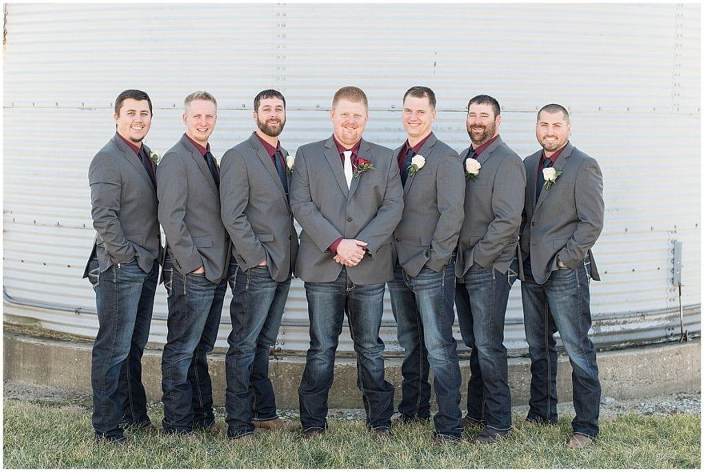 Groomsmen photos in Otterbein, Indiana