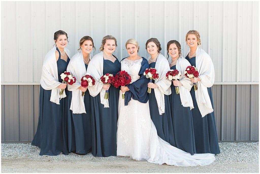 Bridesmaid photos in Otterbein, Indiana