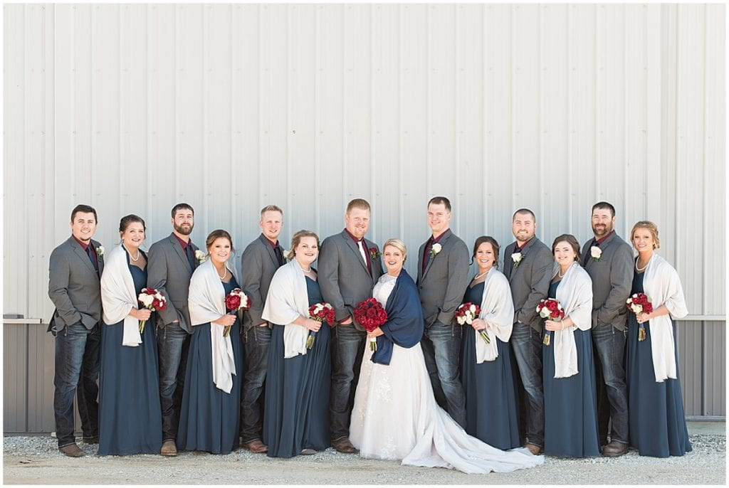 Bridal party photos in Otterbein, Indiana