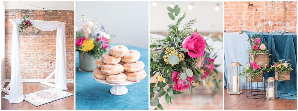 A Dusty Blue & Jewel Tone Wedding with Pops of Color at the Rat Pak Venue
