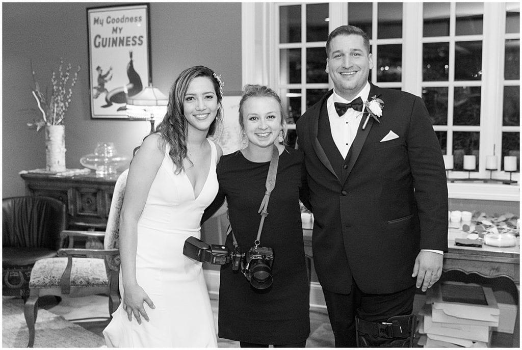 Victoria Rayburn—Lafayette, Indiana wedding photographer—with bride and groom