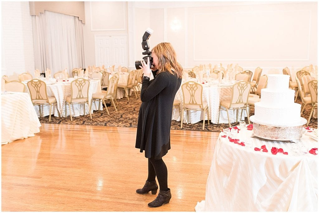 Victoria Rayburn photographing reception details