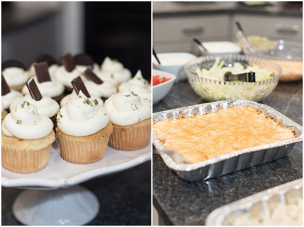Cupcakes and taco bar by Sassy Sweets Catering for the In Focus Marketing Summit