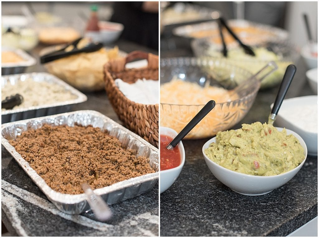 Taco bar by Sassy Sweets Catering for the In Focus Marketing Summit