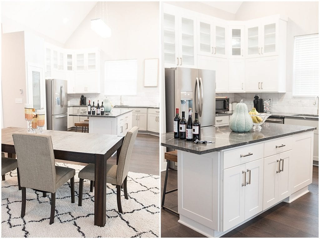 Dining room and kitchen of 2020 In Focus Marketing Summit Airbnb in Indianapolis