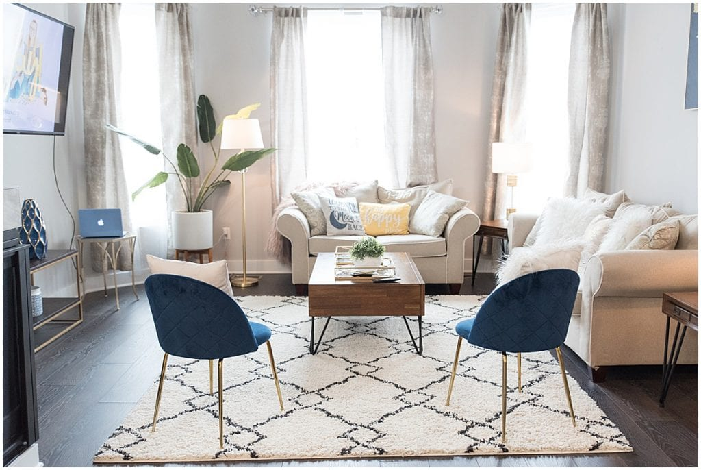 Living room of 2020 In Focus Marketing Summit Airbnb in Indianapolis