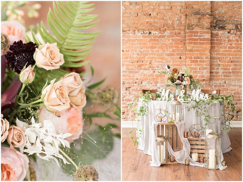 Table scape by White Willow Events—a Lafayette, Indiana wedding planner