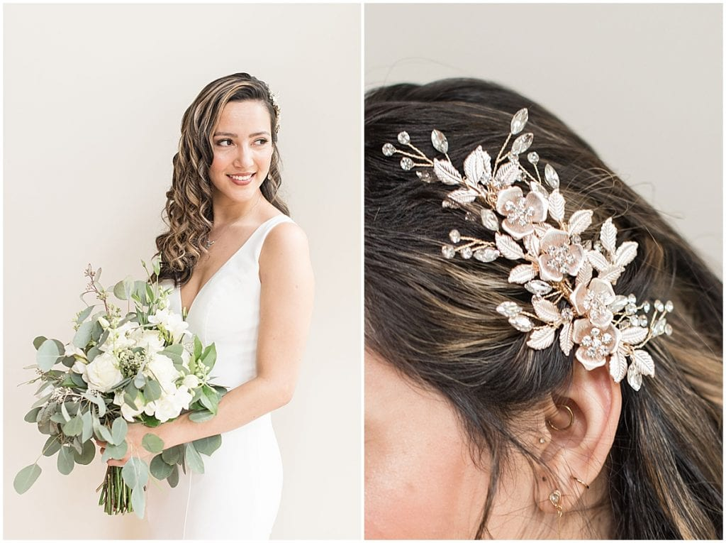 How to Choose the Perfect Hairstyle for Your Wedding Day: Bride with hair comb