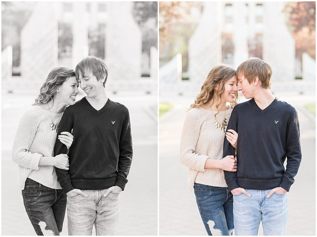 Spring engagement photos at Purdue University