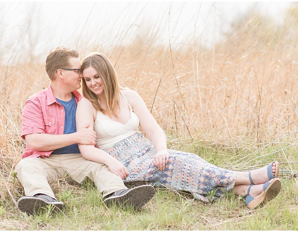 Spring Engagement Photos at the Celery Bog in West Lafayette, Indiana