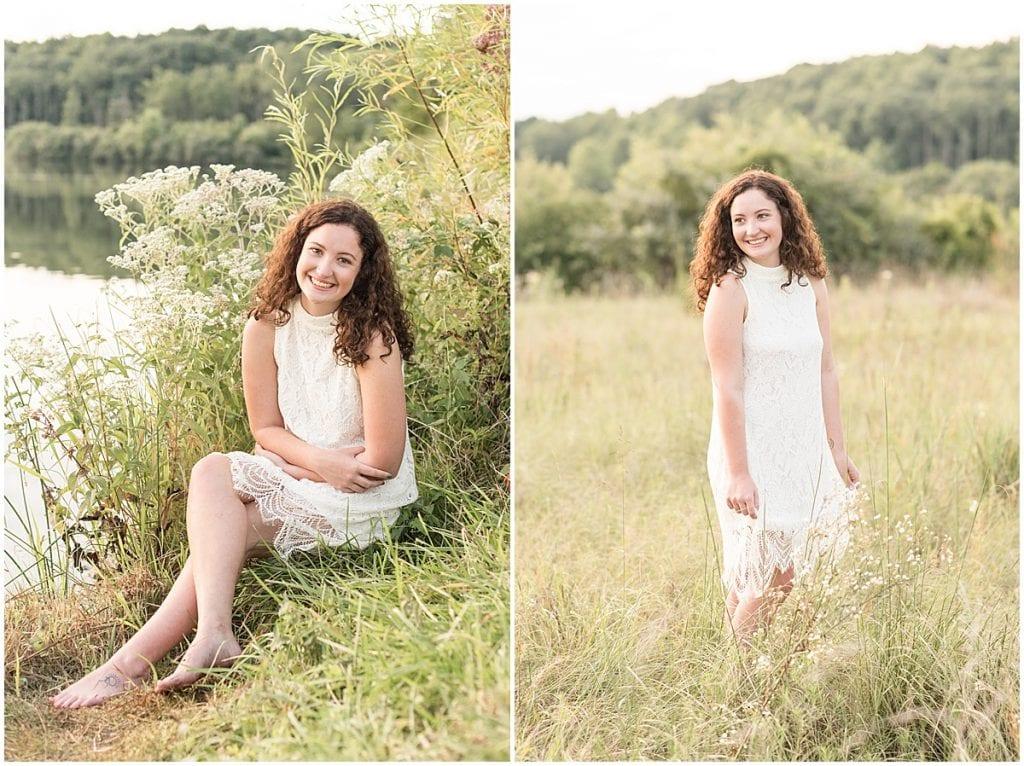 Maya Rayburn's senior photos at Fairfield Lakes Park in Lafayette, Indiana