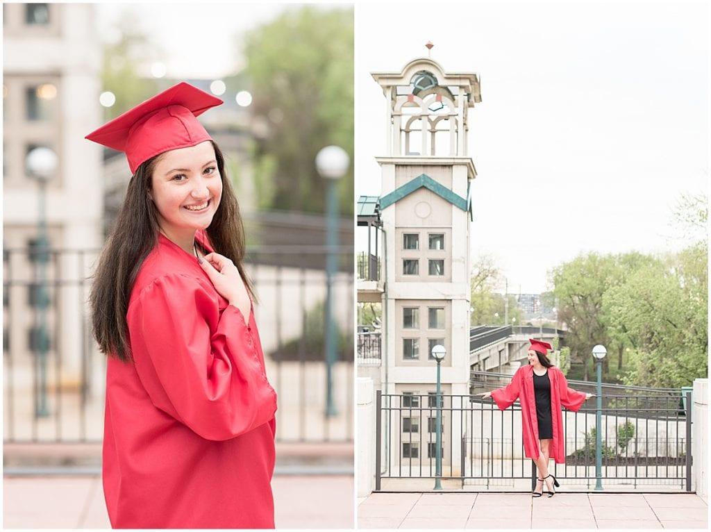 Maya Rayburn's senior photos in downtown Lafayette, Indiana