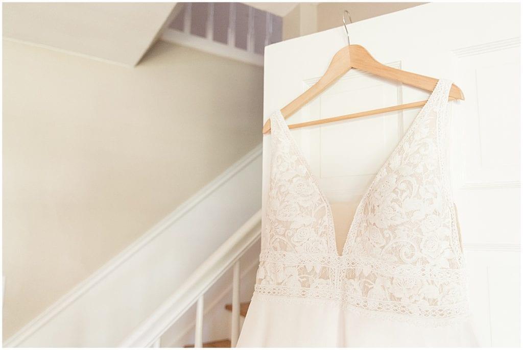 Steamed wedding dress