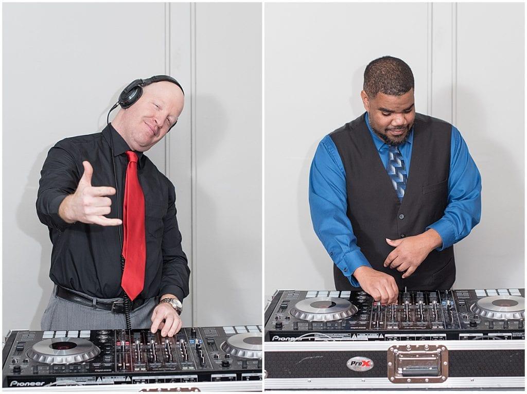 Nick Ribody (DJ Powder) and Don Dennis (DJ Sunn) of Rat Pak Mobile DJs—a DJ company in Lafayette, Indiana